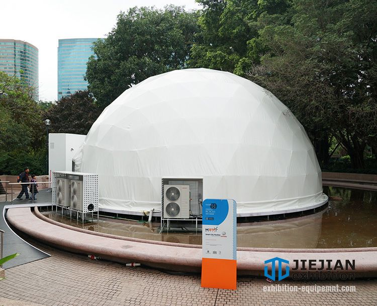 white event geo dome tent with portable ac units & white event geo dome tent with portable ac units | Event Air ...