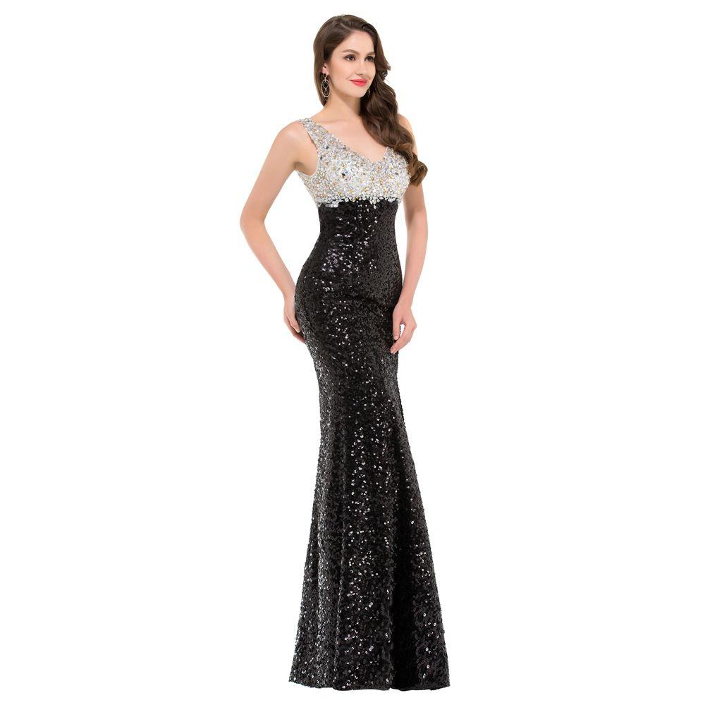 Long Black And White Dress