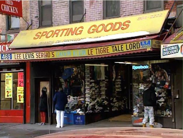 Old skool Harlem Hip Hop clothing store
