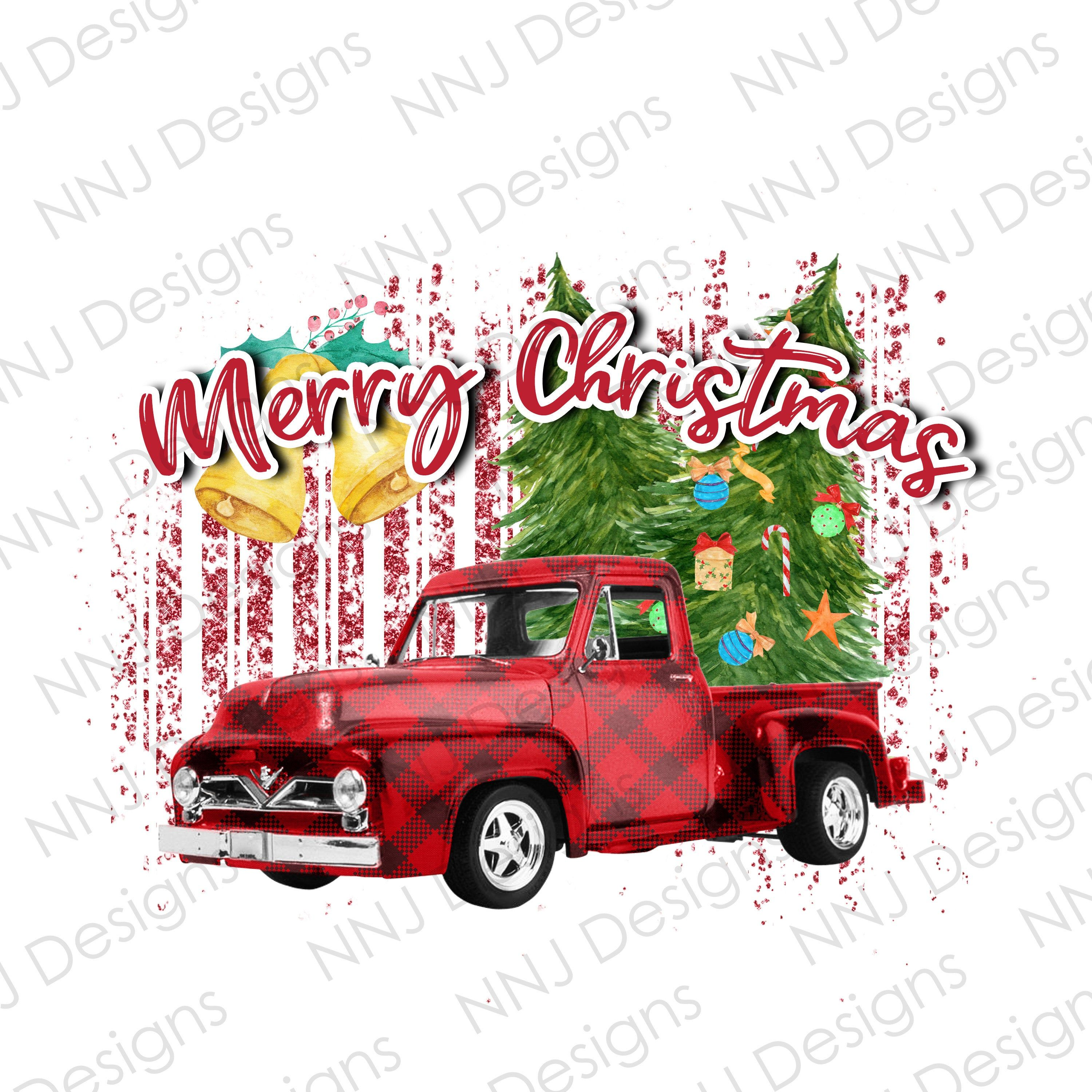 Christmas Truck With Tree Png Merry Christmas Sublimation Etsy Christmas Truck Christmas Tree Clipart Christmas Truck With Tree