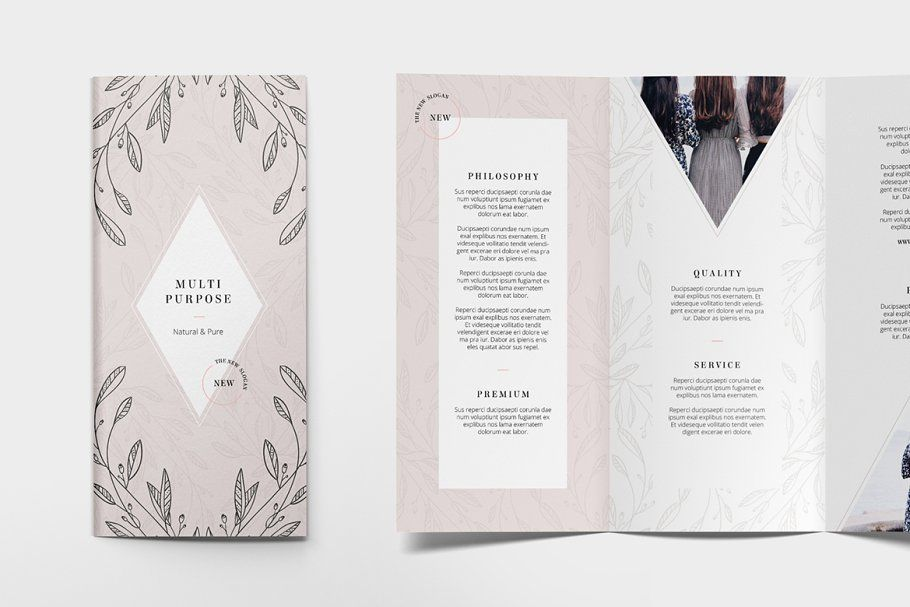 Ad: FLORAL Trifold Flyer Design by AgataCreate on Creative Market. THIS IS NOT A...