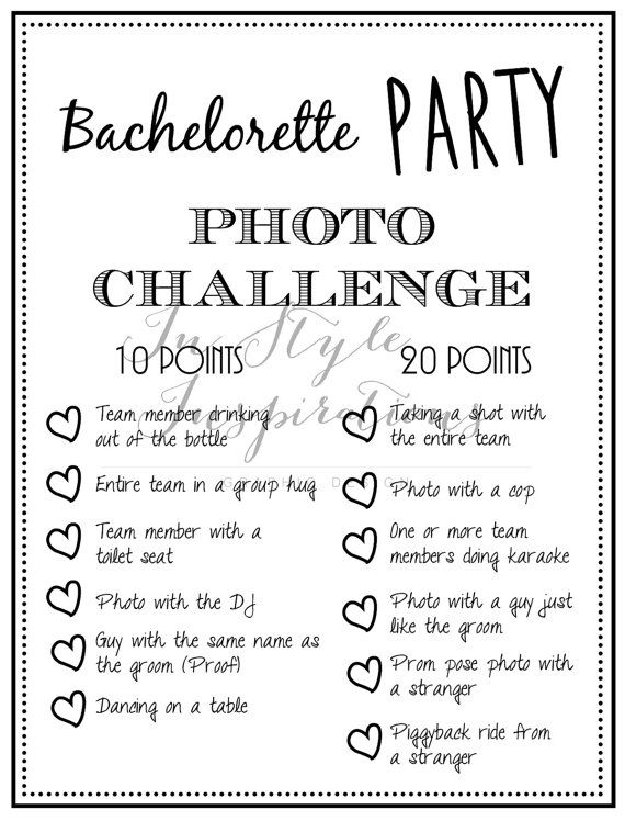 INSTANT DOWNLOAD  PDF Bachelorette Party Game Photo