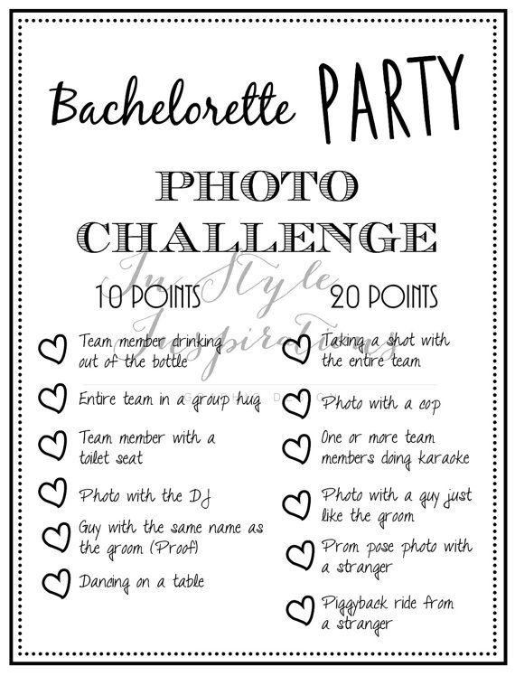 Instant Download Pdf Bachelorette Party Von Instyleinspirations