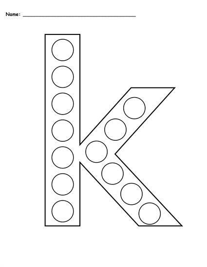 FREE Letter K Do-A-Dot Printables - Uppercase & Lowercase! | Toddler ...