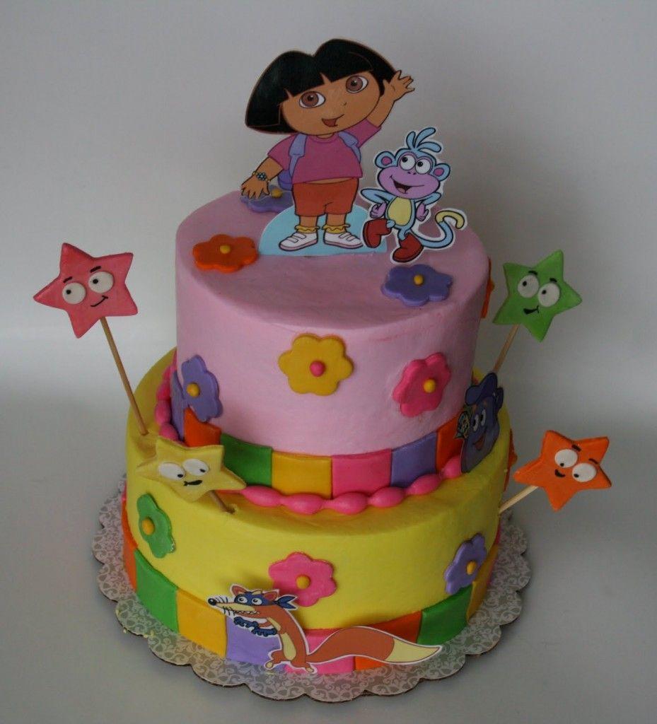 Dora Birthday Cake cakepinscom baby Pinterest Dora birthday cake