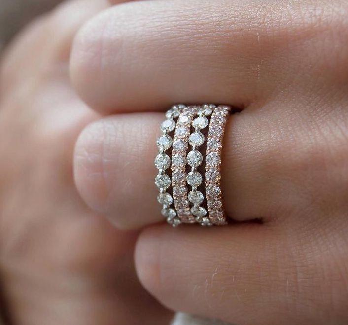 Rings Fashion Dainty Fashion Rings Diamonds White Gold Yellow Gold