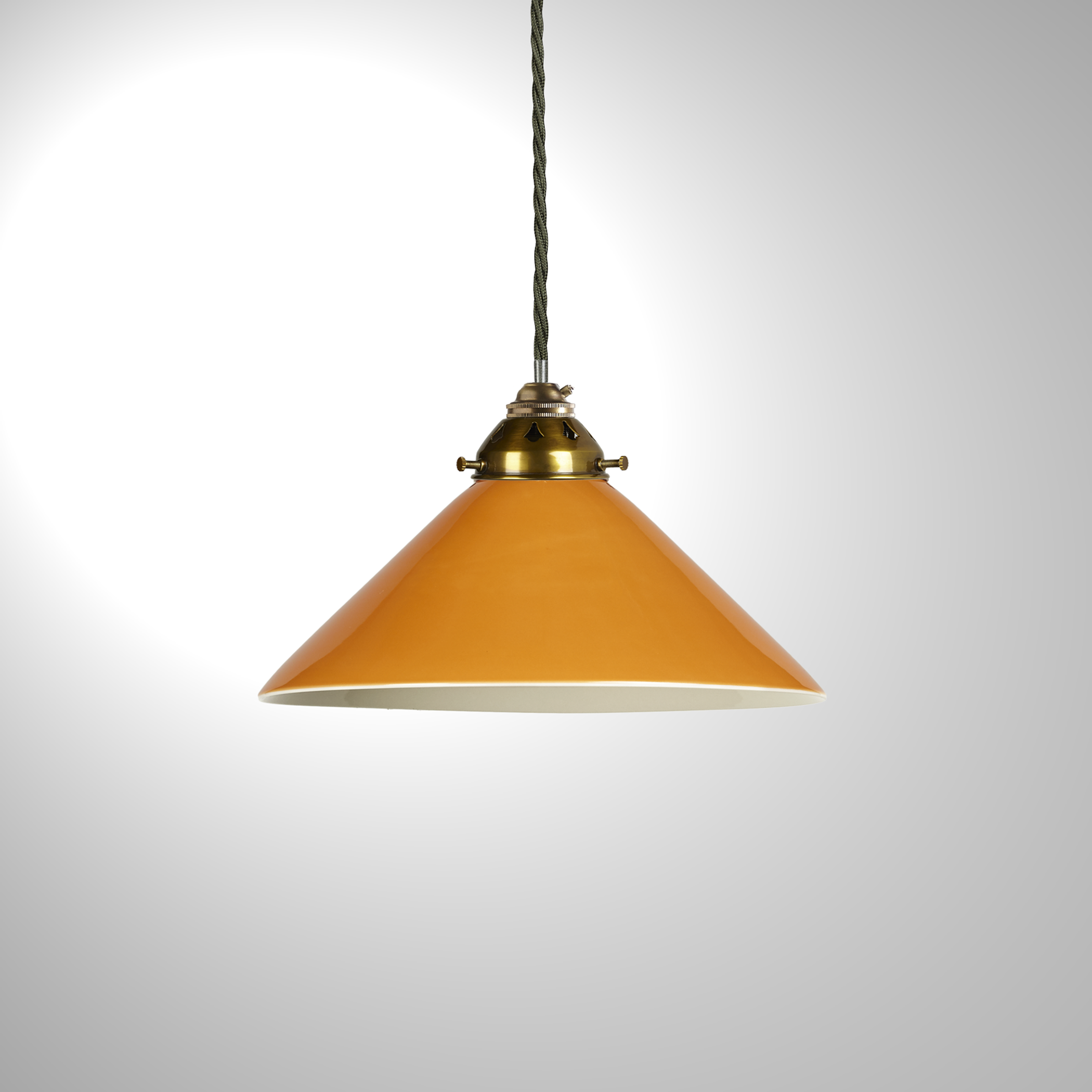 Smaller Hoolie Ceramic Coolie Shade with a