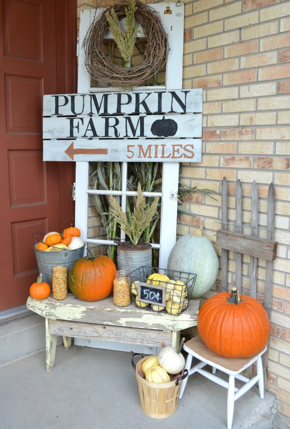 Farmhouse Fall Porch farmhouse porch decor Fall