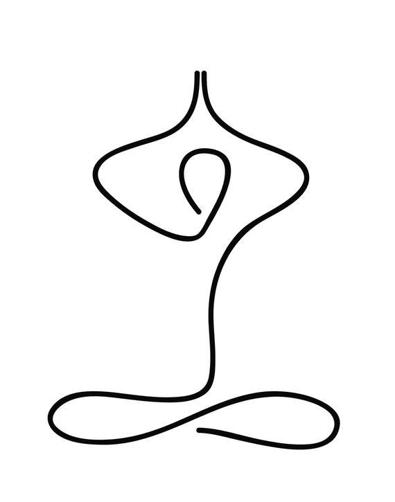 Cartel de Yoga, Impresión de Yoga, Arte De Yoga Minimalista, Impresión de Meditación, Regalos de Yoga, Arte de Yoga, Decoración de Yoga Studio, Descarga Instantánea, Arte Imprimible