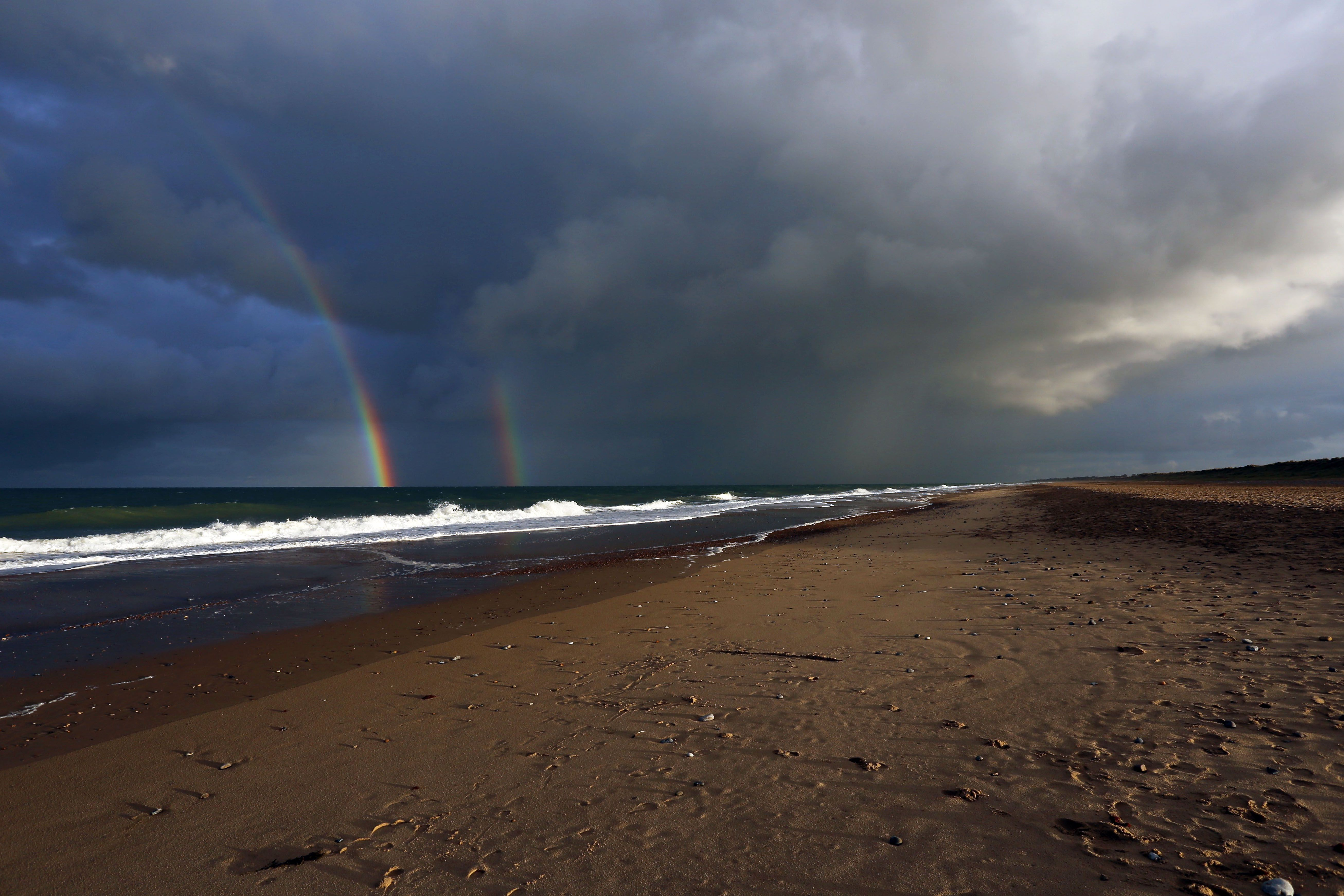 Rainbow over Winterton Sea October 2016