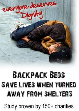 Everyone Deserves Dignity Backpack Beds For The Homeless Homeless Bags Homeless Care Package Blessing Bags