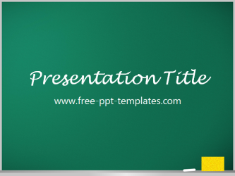 blackboard powerpoint template is a green template which you can use
