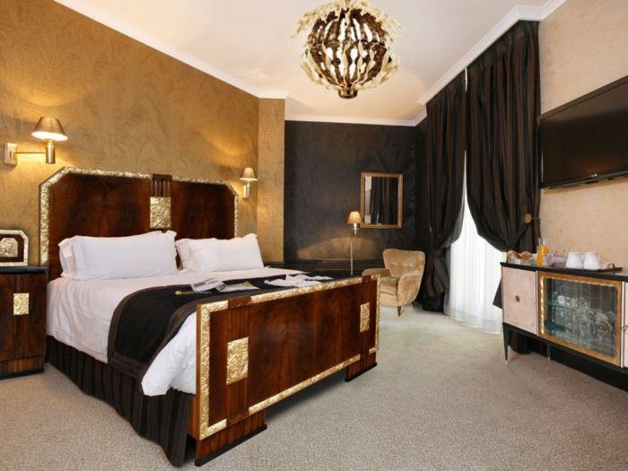 Schlafzimmer Teppichboden ~ Wohnung einrichten ideen art deco schlafzimmer teppichboden