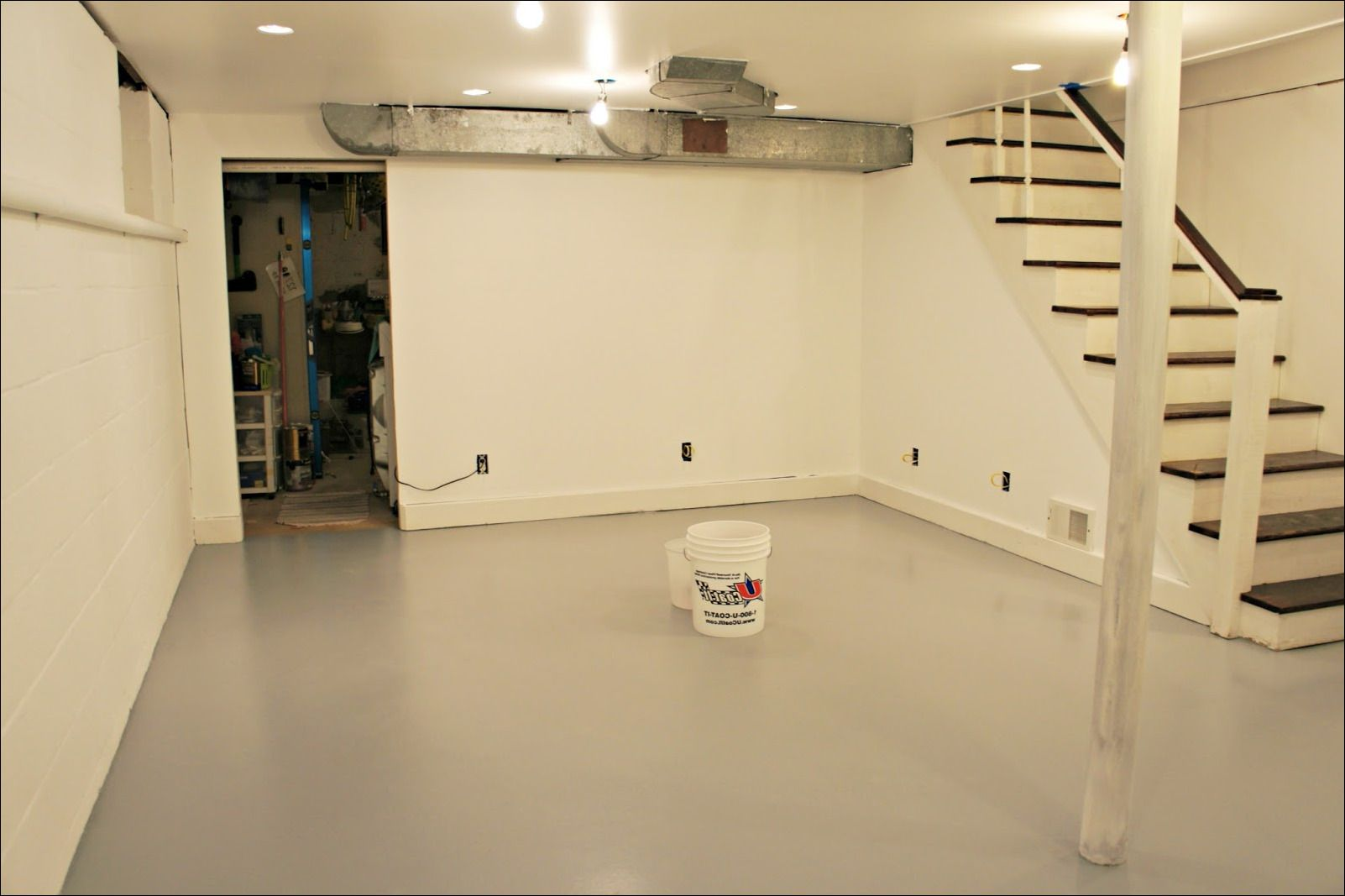 How To Level Basement Floor How To Level Basement Floor For Laminate Tile Around Drain With Wood A Vi Basement Flooring Concrete Basement Floors Cheap Flooring