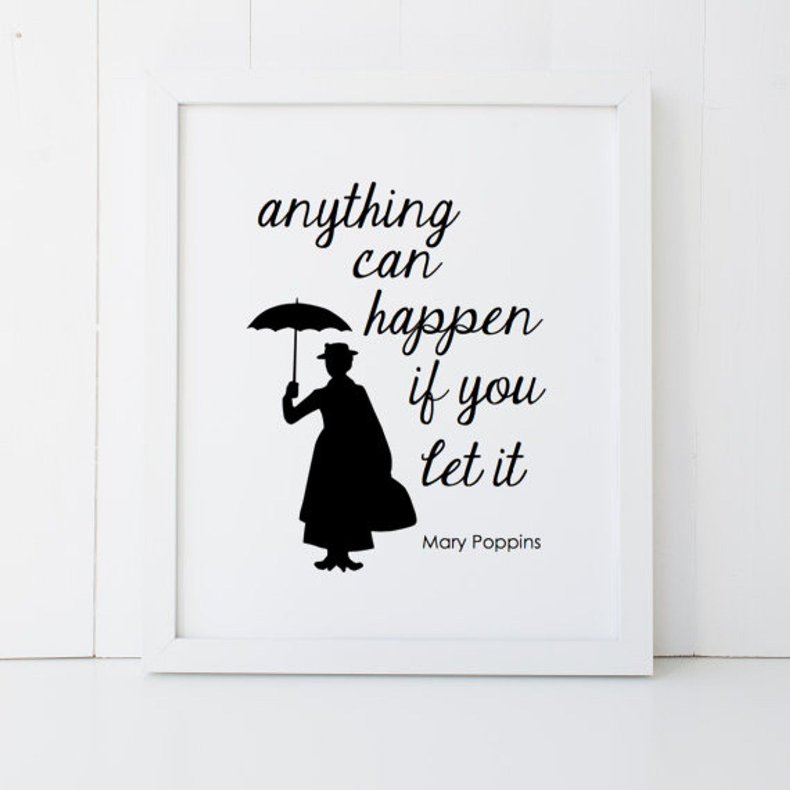 Mary Poppins Quote Disney Home Decor Printable Poster Wall Art Etsy In 2021 Mary Poppins Quotes Disney Wall Art Disney Home Decor
