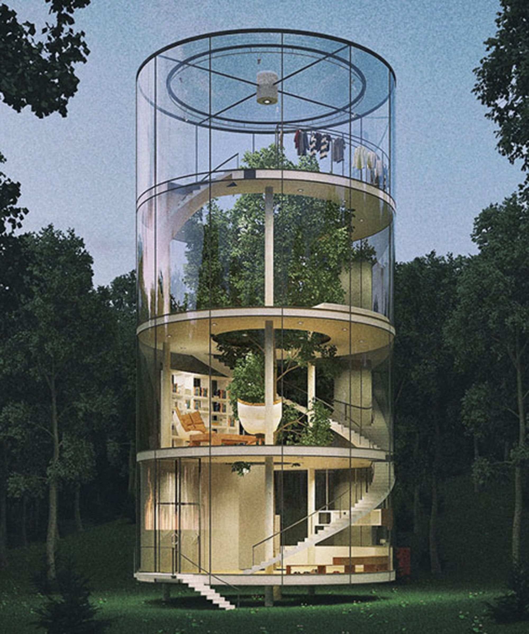 This Treehouse Is So Next Level Treehouse Glass And House