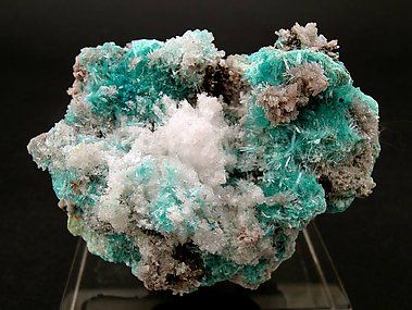 Aurichalcite with Gypsum.