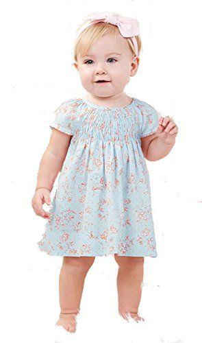 7d6d8c315 Mud Pie Blue Rose Smocked Dress (0-3 Months) Mud Pie   BABY CLOTHES
