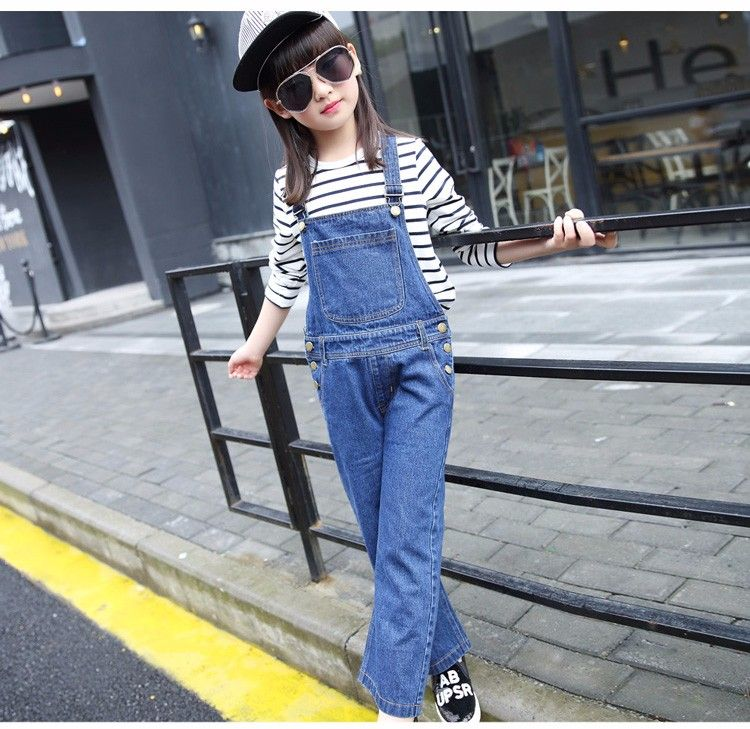 F170282017 Latest Fashion Top Design Spring Autumn Loose Soft Jumpsuit Denim Jeans Tops Girls China Wholesale