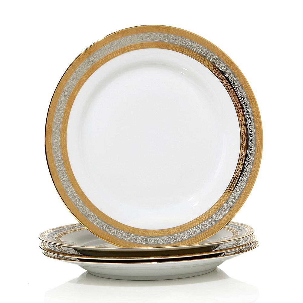 Ten Strawberry Street 10 Strawberry Street Set Of 4 Porcelain Salad Plates 10 Strawberry Street Porcelain Dinner Plates