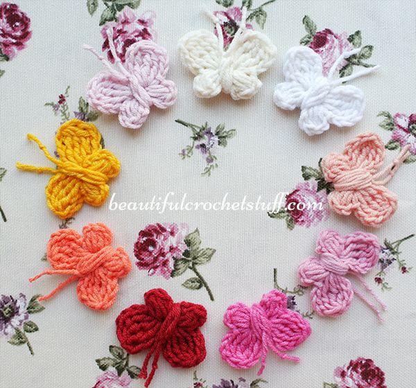 Crochet Butterfly Free Pattern | Butterflies | Pinterest ...