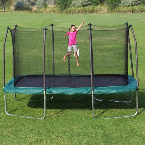 8 X 14 Rectangle Trampoline Green: Skywalker Trampolines Rectangle 8 X 14 Ft. Trampoline With