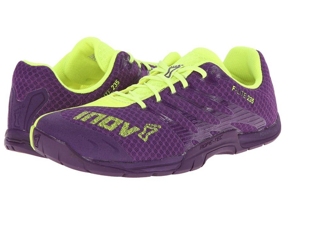 Details about Inov 8 Schuhe F Lite 235 Running Schuhe 8 Purple Neon Yellow 516e87