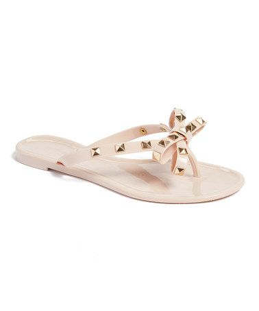 Loving This Nude Stud Bow Flip Flop On Zulily Zulilyfinds Flip