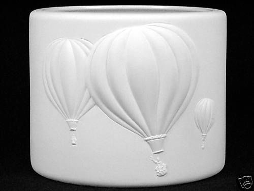 Hot Air Balloons Planter Ceramic Bisque Unpainted Made To Order