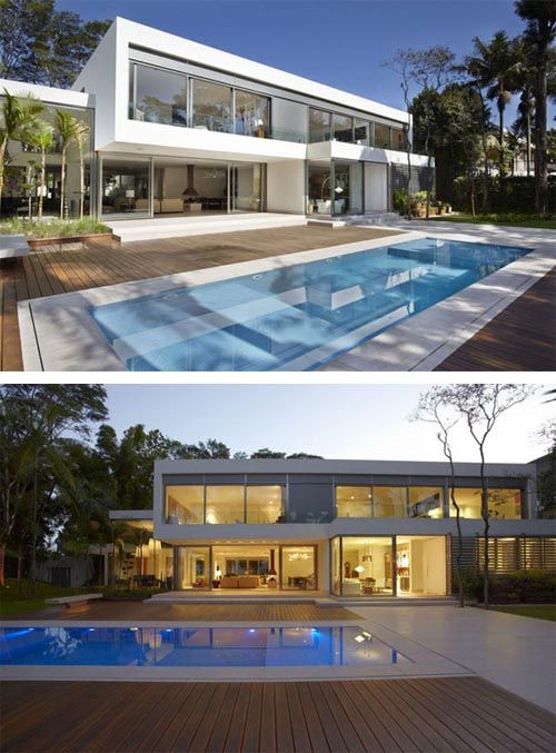 Modern two story home Morumbi Residence Modern Two Story Home with