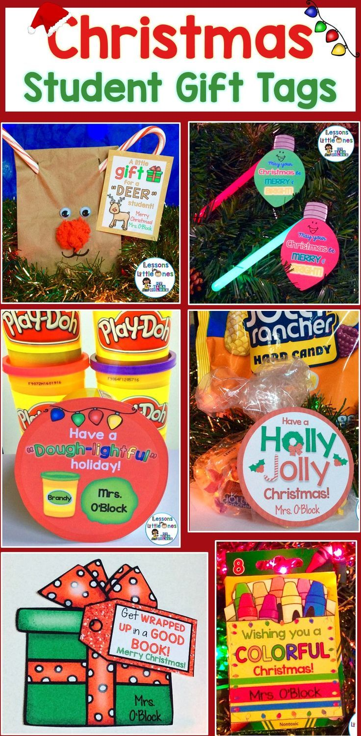 Easily create memorable Christmas gifts for your students with these cute and colorful student gift tags. Simply print and attach to trinkets such as play dough, books, crayons, Jolly Ranchers, glow sticks, etc. Includes 12 different Christmas designs so you can use them for multiple classes or from year to year.