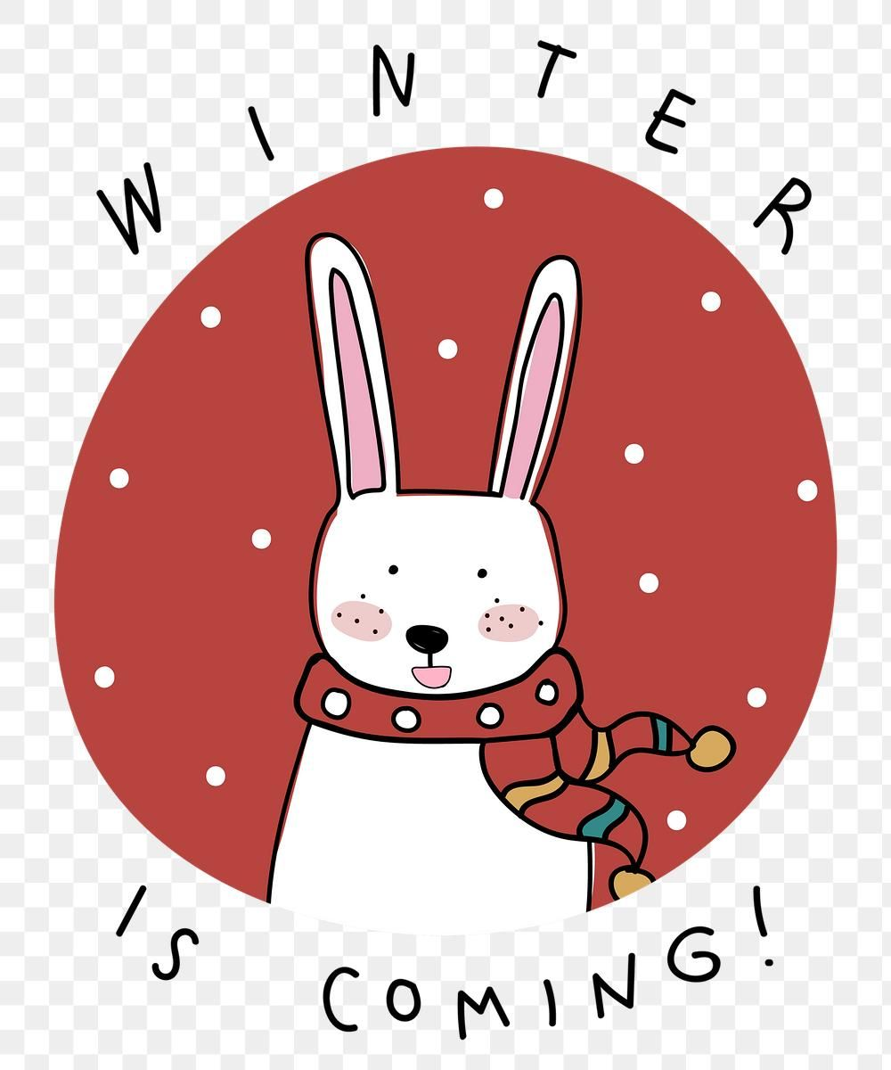 Winter Is Coming Png Bunny Cute Christmas Greeting Christmas Sticker Premium Image By Rawpixel Purple Wallpaper Iphone Christmas Greetings Christmas Stickers