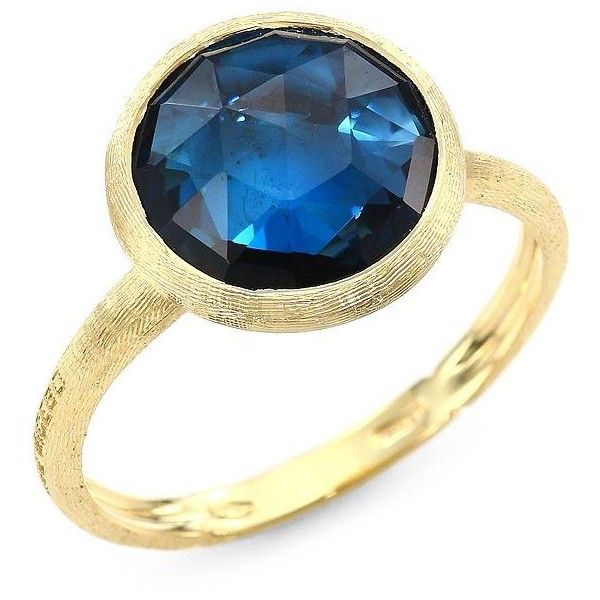 Marco Bicego Jaipur 18K Faceted Round London Blue Topaz Ring OceMPa
