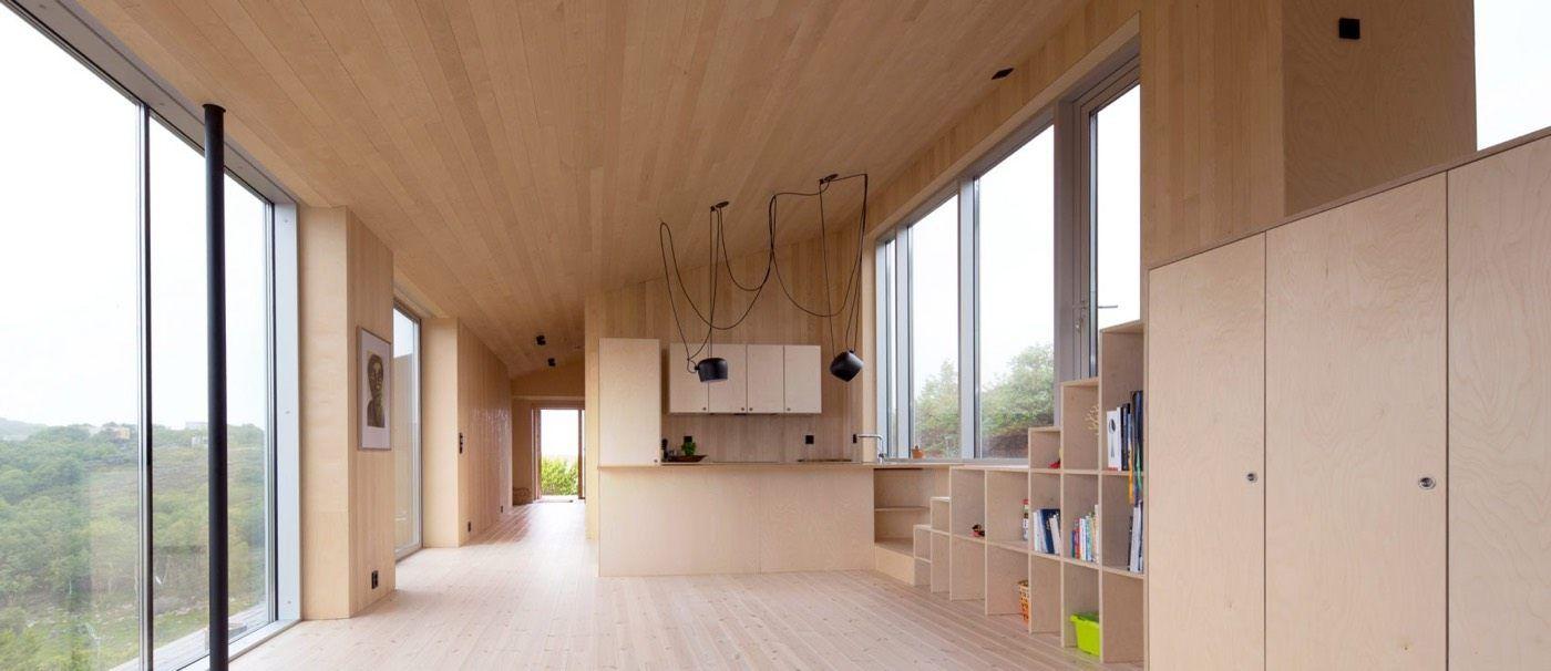 Escalier En Bois Avec Rangement une retraite minimaliste et parfaitement optimisée pour une
