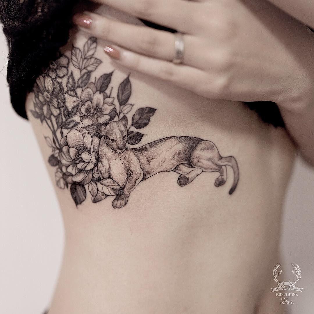 Lioness Tattoo On Ribs By Zihwa Tattooer Lioness Tattoo Tattoos Lioness Tattoo Design