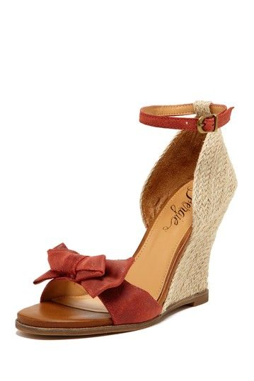 Roberta Ankle Strap Wedge Sandals