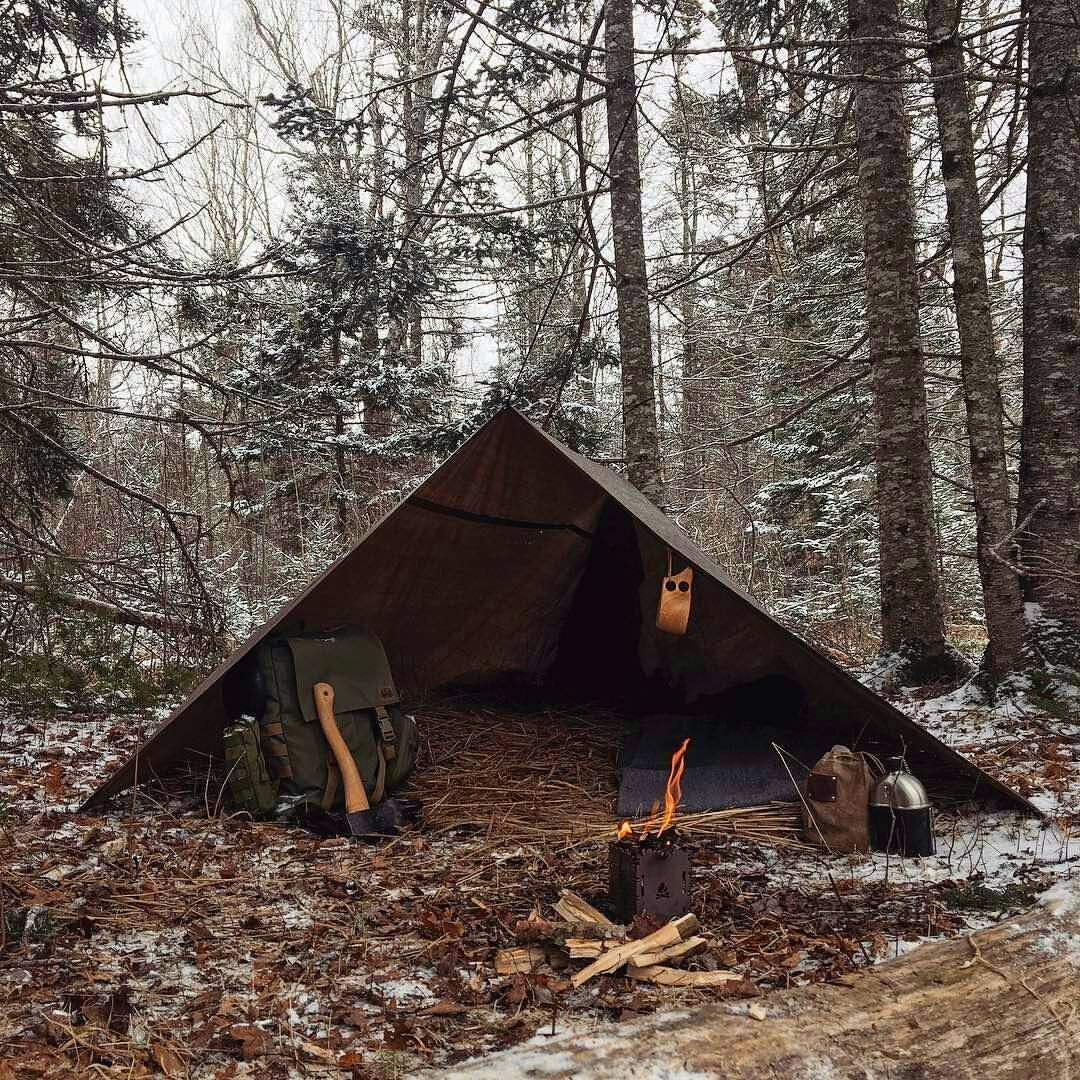 """Photo of Bushcrafting & Survival on Instagram: """"A neat winter camp insulated with some dry straw. If you use what's around you your pack won't be as heavy. And it's also a very rewarding…"""""""
