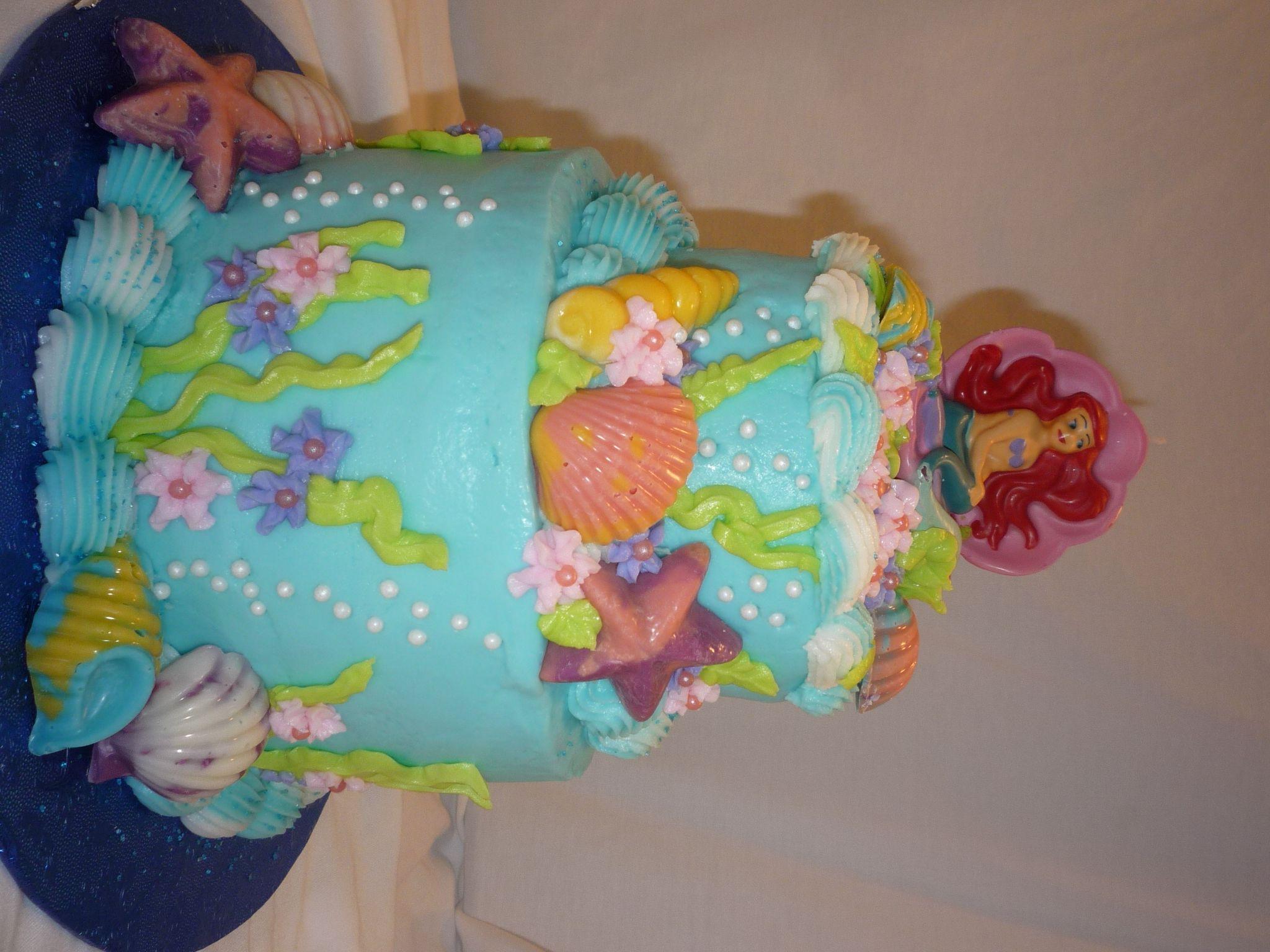 ariel birthday cakes at walmart Little Mermaid Birthday Cake