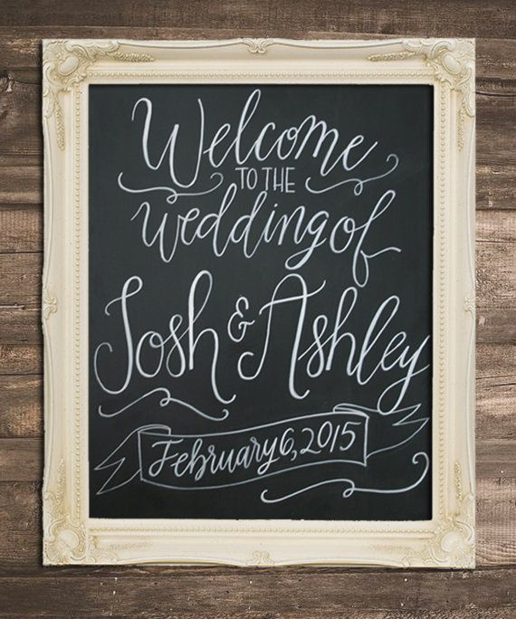 Welcome To The Wedding Of Custom Chalkboard Sign 16 X 20