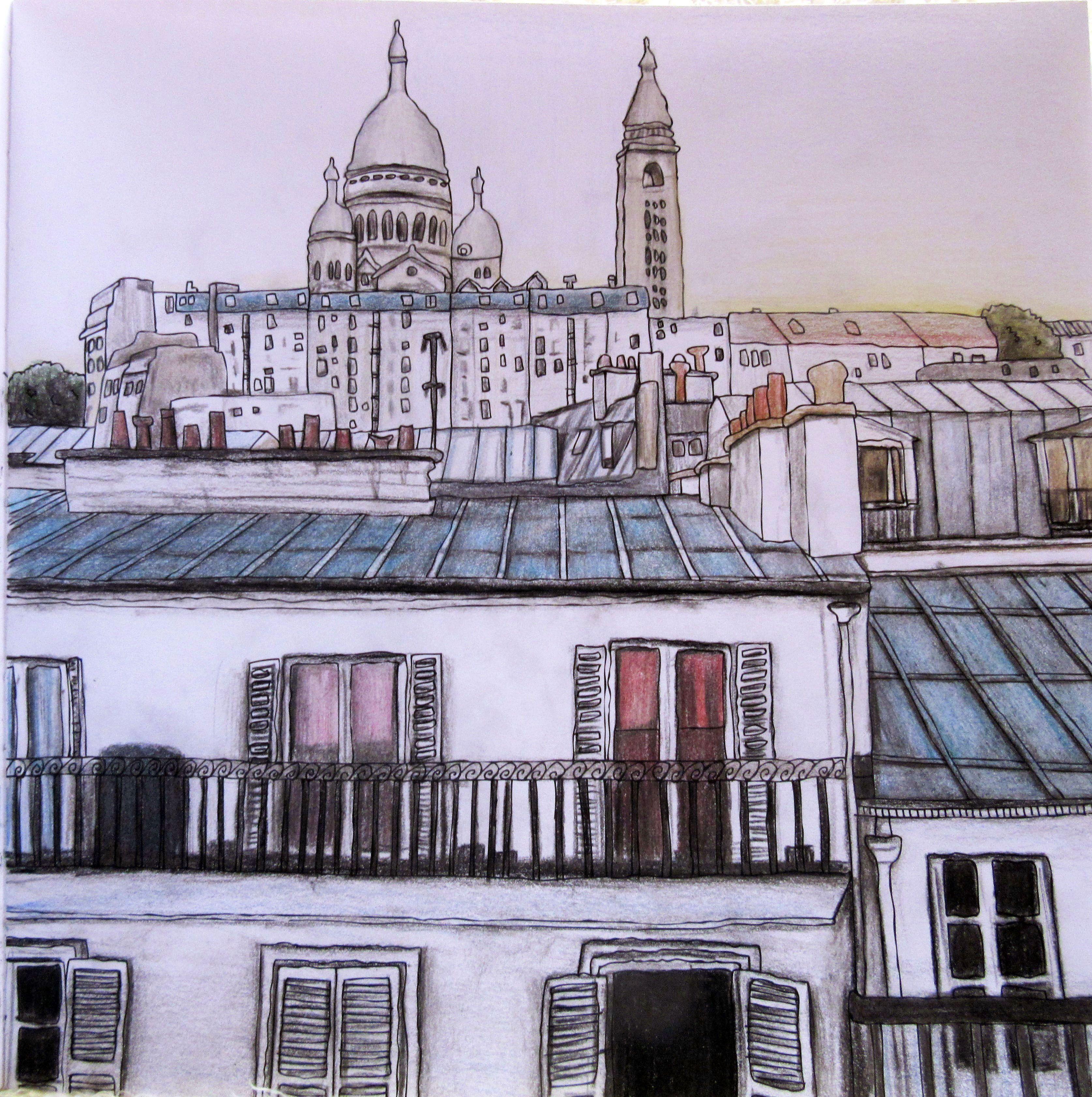Zoe De Las Cases Secret Paris Colouring Book