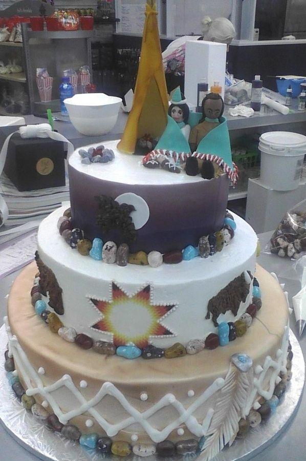 native cakes   Native American Wedding Cake