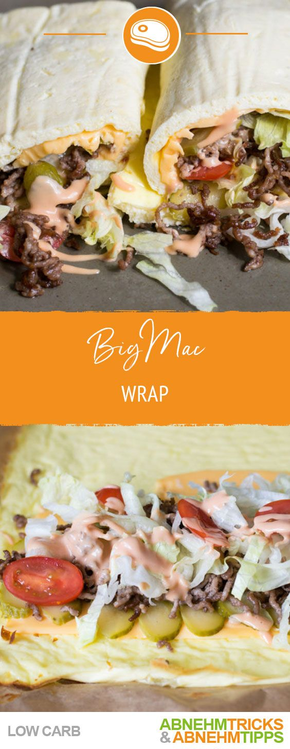 Low Carb Big Mac Wrap Rezept - Extrem Lecker und Low Carb #lowcarbeating