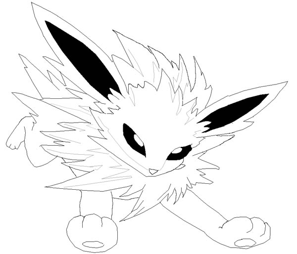 Jolteon Little Pokemon Coloring Page Kids Play Color Pokemon Coloring Pokemon Coloring Pages Coloring Pages