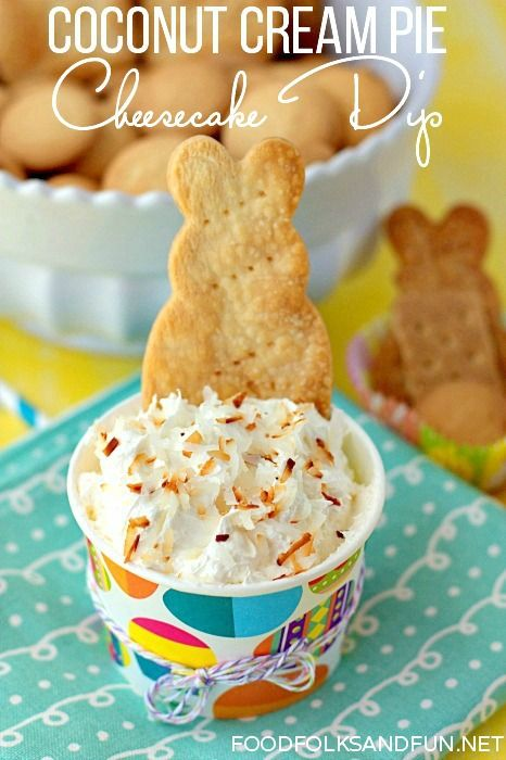 This Coconut Cream Pie Cheesecake Dip Recipe can be made in just 5 minutes!