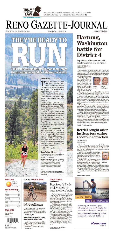 Reno Gazette-Journal 6/2/16 via Newseum | News Magazine