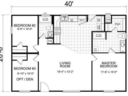 House Floor Plans 40x60 Barndominium Floor Plans 40x40