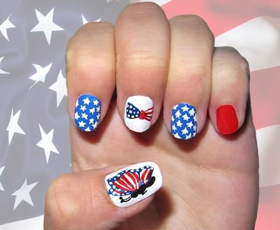 4th Of July Nail Art Design Ideas Pinterest Inspirations