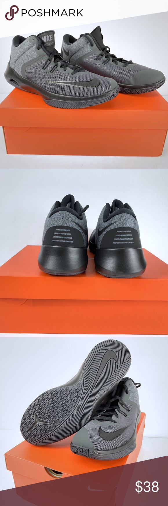 d323c3e71157 Nike Air Versatile Men s Shoes Nike Air Versatile II NBK Black Grey  Anthracite Basketball AA3819-001 Size 10 Nike Shoes