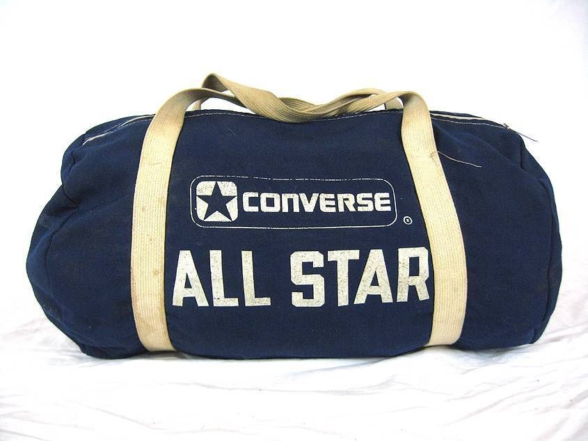 8a01f0e8fb1 VINTAGE 1980 S CONVERSE ALL STAR CHUCK TAYLOR CANVAS SPORT DUFFLE BAG USA   Converse
