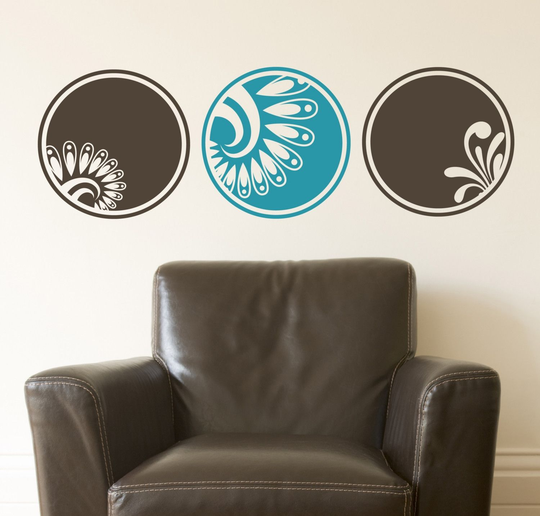 Each Circle Is X Decorative Circles Feather Plume Vinyl Wall - Custom vinyl wall decals circles